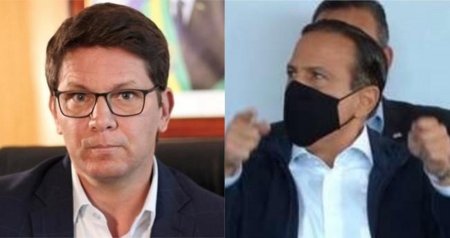 Mario Frias e João Doria - Foto: Reprodução