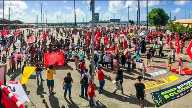 Evento em Aracajú (foto postada pela deputada Sâmia Bomfim, do PSOL)