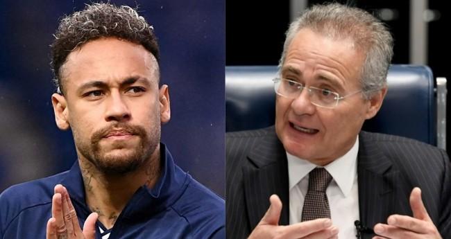 Neymar e Renan Calheiros (reprodução)