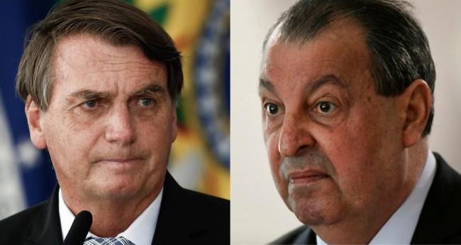 Jair Bolsonaro e Omar Aziz - Foto: Reprodução