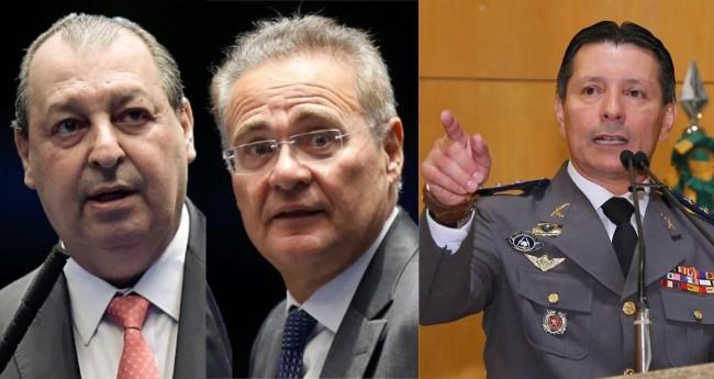 Omar Aziz, Renan Calheiros e Capitão Assumção - Foto: Reprodução