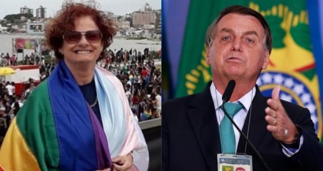 Margareth Hernandes e Jair Bolsonaro - Foto: Reprodução