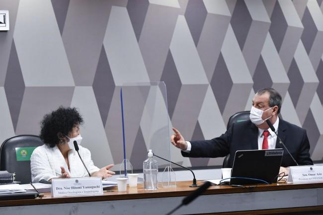 A médica Nise Yamaguchi na CPI da Covid - Foto: Leopoldo Silva/Agência Senado