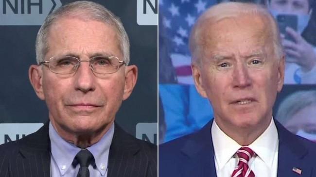 Dr. Fauci e Biden - Fotomontagem