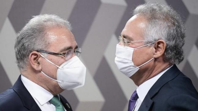 Marcelo Queiroga e Renan Calheiros - Foto: Reprodução