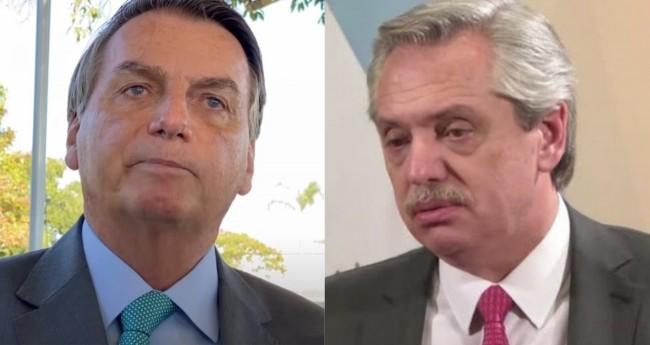 Jair Bolsonaro e Alberto Fernandez - Foto: Reprodução