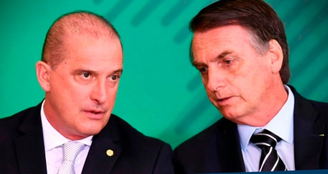 Onyx Lorenzoni e Jair Bolsonaro - Foto: Reprodução/Internet