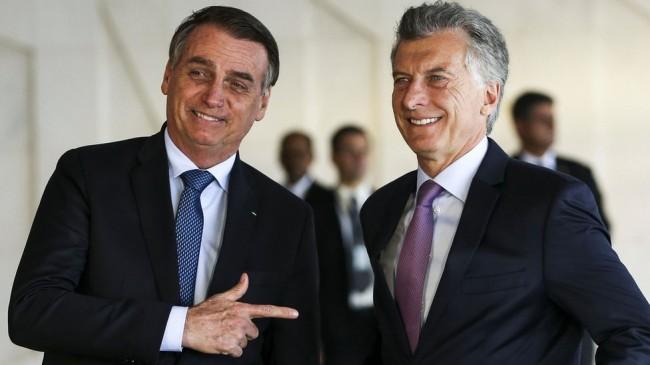 Jair Bolsonaro e Maurício Macri - Foto: Reprodução