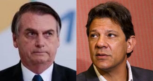 Jair Bolsonaro e Fernando Haddad - Foto: Reprodução