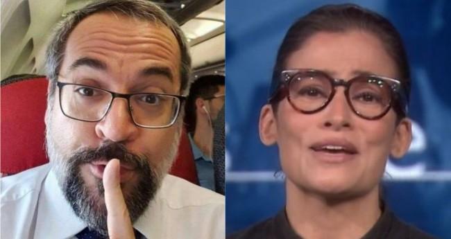 Abraham Weintraub e Renata Vasconcellos - Foto: Reprodução