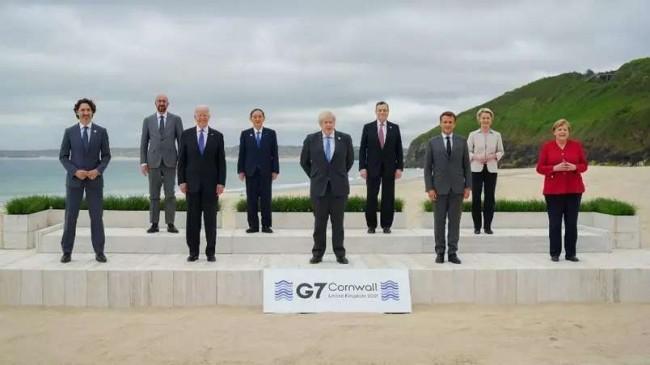 Líderes do G7 - Reprodução internet