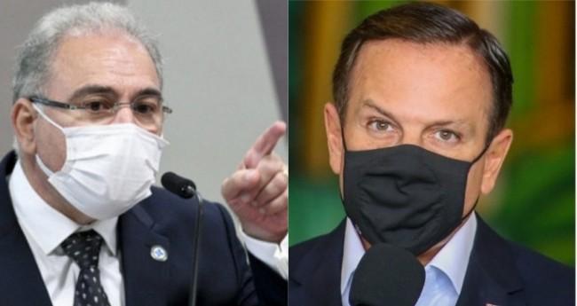 Marcelo Queiroga e João Doria - Foto: Reprodução