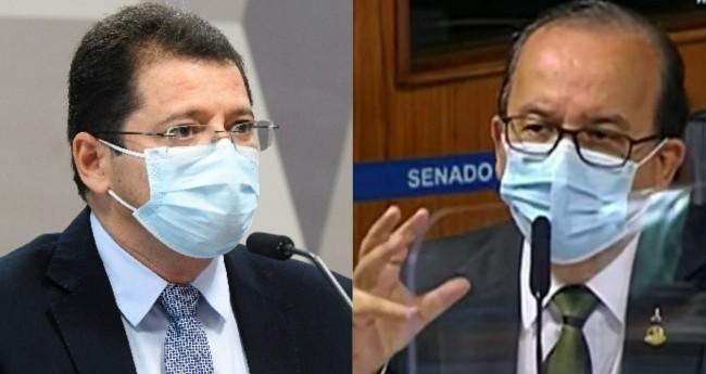Marcellus Campelo e Jorginho Mello - Foto: Marcos Oliveira/Agência Senado; Reprodução