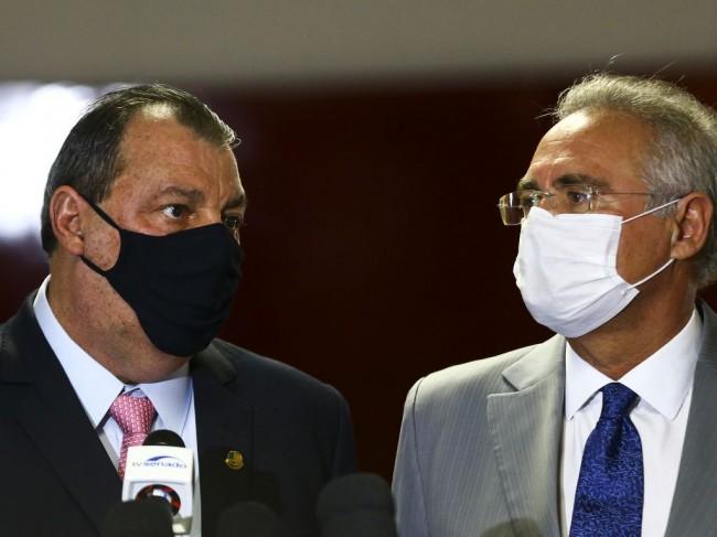 Omar Aziz e Renan Calheiros - Foto: Marcelo Camargo/Agência Brasil