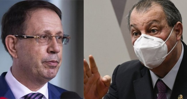 Carlos Wizard e Omar Aziz - Foto: Washington Costa/Ministério da Economia; Reprodução