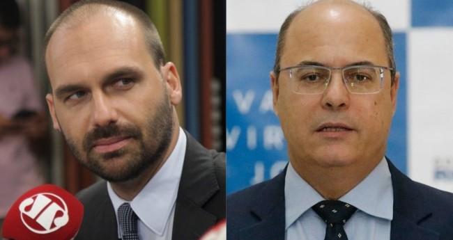 Eduardo Bolsonaro e Wilson Wizel - Foto: JP; Fernando Frazão/Agência Brasil