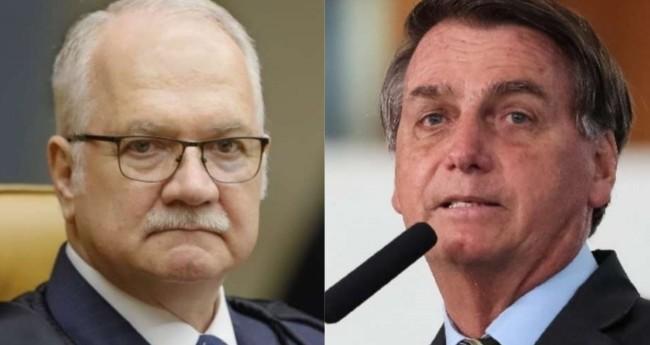 Edson Fachin e Jair Bolsonaro - Foto: Reprodução