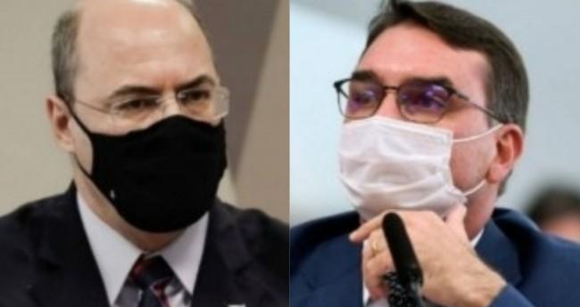 Wilson Witzel e Flávio Bolsonaro - Foto: Reprodução
