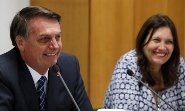 Jair Bolsonaro e Bia Kicis - Foto: Presidência da República