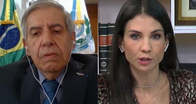 General Augusto Heleno e Amanda Klein - Foto: Reprodução