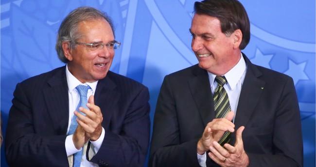 Paulo Guedes e Jair Bolsonaro - Foto: Sérgio Lima