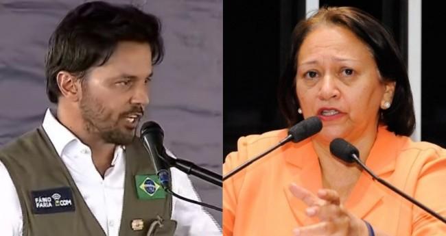 Fábio Faria e Fátima Bezerra - Foto: Reprodução