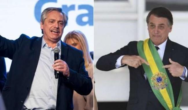 Alberto Fernández, presidente da Argentina, e Jair Bolsonaro - Reprodução internet