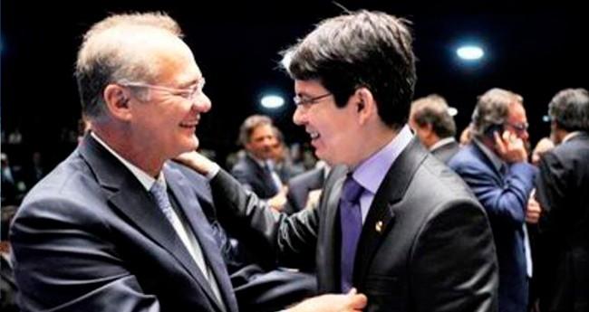 Renan Calheiros e Randolfe Rodrigues - Foto: Reprodução
