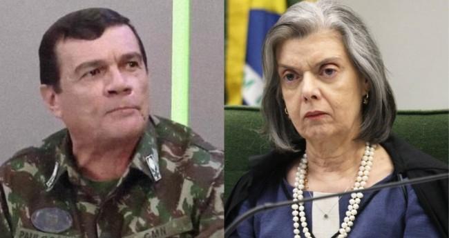 General Paulo Sérgio e Cármen Lúcia - Foto: Reprodução; STF