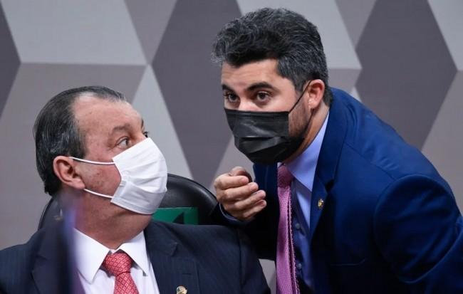 Omar Aziz e Marcos Rogério - Foto: Jefferson Rudy/Agência Senado