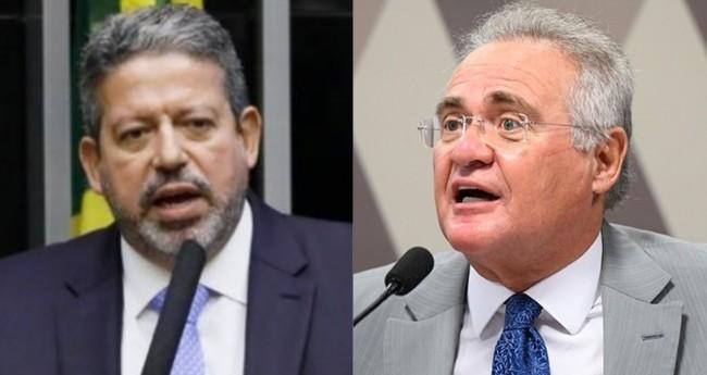 Arthur Lira e Renan Calheiros, relator da CPI da Covid - Foto: Reprodução