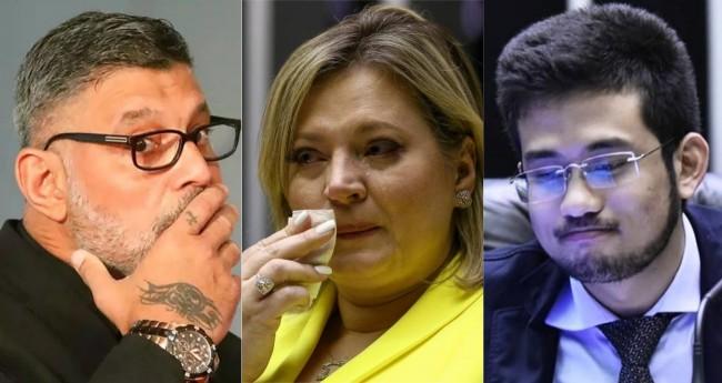 Alexandre Frota, Joice Hasselmann e Kim Kataguiri - Foto: Igo Estrela; Pedro Ladeira; Reprodução