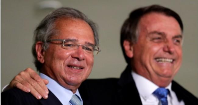 Paulo Guedes e Jair Bolsonaro - Foto: Reprodução