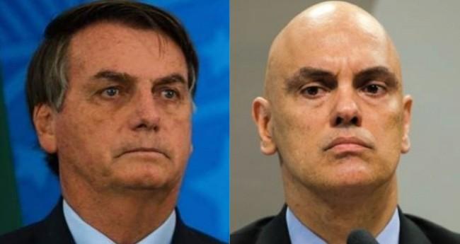 Jair Bolsonaro e Alexandre de Moraes - Foto: Reprodução
