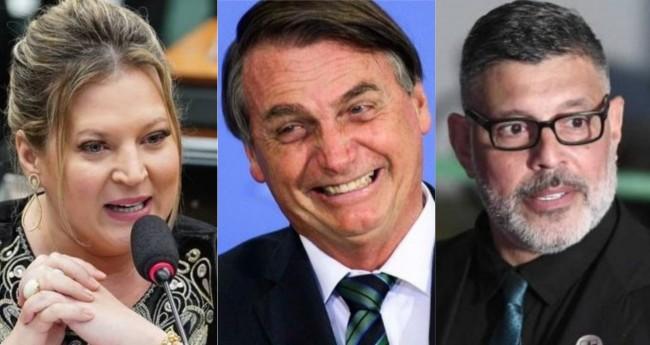 Joice Hasselmann, Jair Bolsonaro e Alexandre Frota - Foto: Pablo Valadares/Câmara; Marcelo Camargo/ Ag.Brasil; Edilson Rodrigues/Ag.Senado