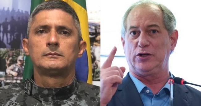 Coronel Antônio Aginaldo de Oliveira e Ciro Gomes - Foto: Reprodução