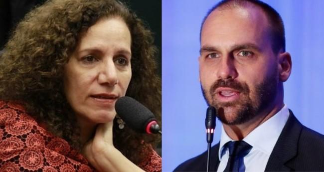 Jandira Feghali e Eduardo Bolsonaro - Foto: Reprodução; Alan Santos/PR