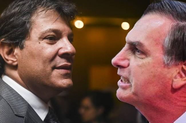 Fernando Haddad e Jair Bolsonaro - Foto: Reprodução