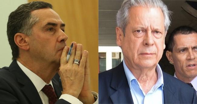 Luís Roberto Barroso e José Dirceu - Foto: José Cruz, Fábio Rodrigues Pozzebom/Agência Brasil