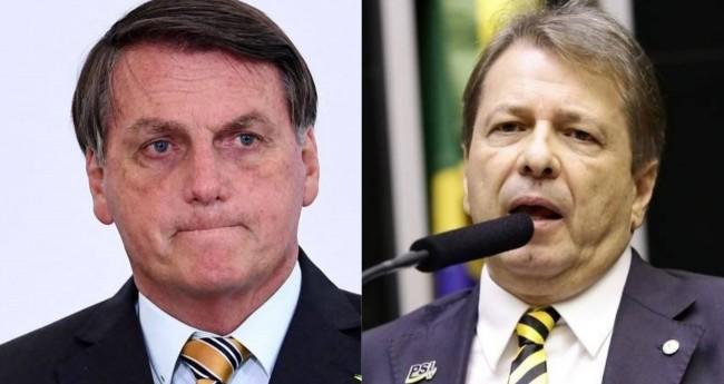 Jair Bolsonaro e Bibo Nunes - Foto: Reprodução/PR; Câmara