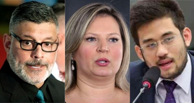 Alexandre Frota, Joice Hasselmann e Kim Kataguiri - Foto: Agência Brasil