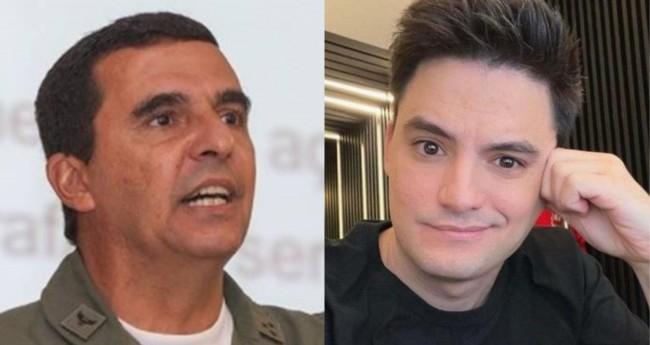Carlos Almeida Baptista Junior e Felipe Neto - Foto: Bruno Batista/FAB; Reprodução
