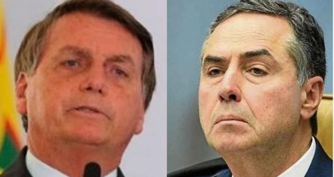 Jair Bolsonaro e Luis Roberto Barroso - Foto: Reprodução
