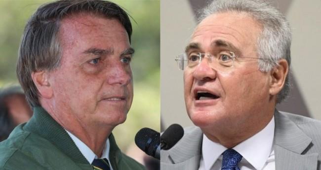 Jair Bolsonaro e Renan Calheiros - Foro: Isac Nóbrega/PR; Edilson Rodrigues/Agência Senado