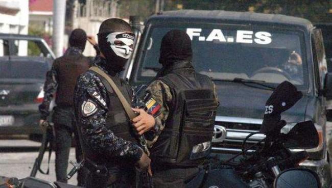 Forças de segurança venezuelanas nas ruas contra as gangues - Reprodução internet
