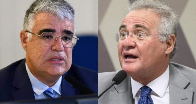 Eduardo Girão e Renan Calheiros - Foto: Edilson Rodrigues/Agência Senado