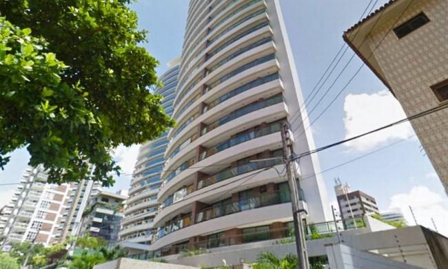 Edifício em que está localizado o apartamento de Ciro Gomes arrematado por Eunício - Foto: Reprodução