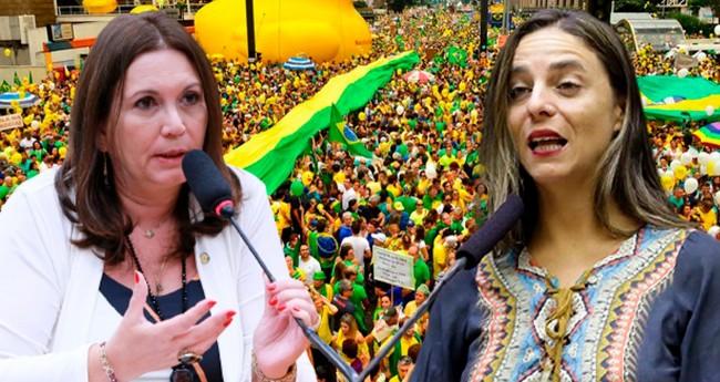 Bia Kicis e Fernanda Melchionna - Foto: Reprodução