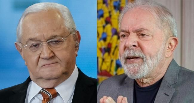 Boris Casoy e Lula - Foto: Reprodução; Ricardo Stuckert/PT