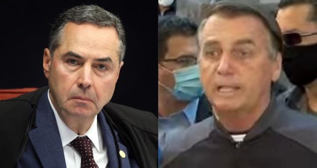 Luis Roberto Barroso e Jair Bolsonaro - Foto: Nelson Jr./SCO/STF; Reprodução